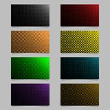 Retro halftone dot pattern business card background template design set - vector stationery graphic with colored circles. Retro halftone dot pattern business Royalty Free Stock Image