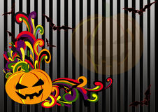 Retro Halloween. Flier or poster for your halloween party stock illustration