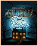 Retro Halloween background party invitation Stock Images
