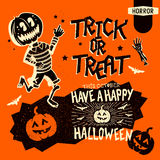 Retro Halloween Elements Royalty Free Stock Photos