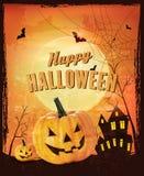 Retro- Halloween-Hintergrund Lizenzfreies Stockbild