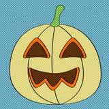 Retro- Halloween-Kürbis Stock Abbildung