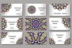 Retro hand-drawn card with mandala. Vintage background with place for text. Can be used for invitation, banner, others Stock Image