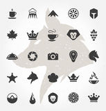 Retro Hand Drawn Objects and Icons Vector Design Royalty Free Stock Photo
