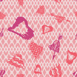 Retro hand-drawn sketches color seamless background with hearts for valentines and wedding day Royalty Free Stock Image