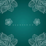 Retro hand-drawn vector frame with a decorative ornament. Royalty Free Stock Images