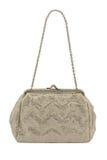 Retro handbag. On white background Stock Images
