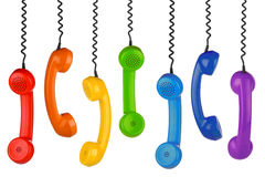 Retro handset row Stock Photography