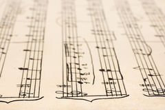 Retro handwritten sheet music Royalty Free Stock Photography