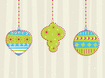 Retro hanging decorations Royalty Free Stock Photography