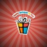 Retro Happy Birthday Red Background Royalty Free Stock Image