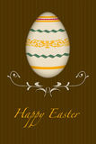 Retro happy easter greeting card Royalty Free Stock Photo