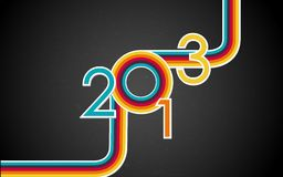 Retro Happy New Year. Illustration of colorful Happy New Year with retro stripe Royalty Free Stock Images