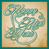 Retro Happy New Year greeting royalty free illustration