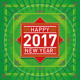 Retro Happy New Year Illustration - Stock Vector Image Royalty Free Stock Photography