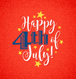 Retro Happy 4th of July typography design Stock Images