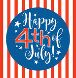 Retro Happy 4th of July typography design Stock Photography