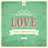 Retro Happy Valentine's day  card Stock Photography