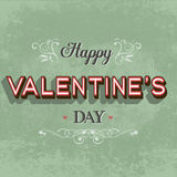 Retro Happy Valentine's day  card Royalty Free Stock Photos