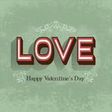 Retro Happy Valentine's day  card Stock Images