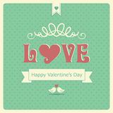 Retro Happy Valentine's day  card Royalty Free Stock Images