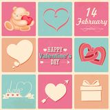 Retro Happy Valentines Day Background Stock Photography