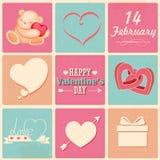 Retro Happy Valentines Day Background Stock Photography