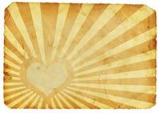 Retro hart stock afbeelding