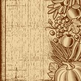 Retro harvest background brown Stock Photos