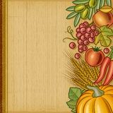 Retro harvest background Royalty Free Stock Photo