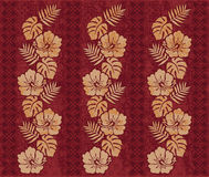 Retro Hawaiian pattern. A vintage-style Hawaiian floral pattern Royalty Free Stock Photography