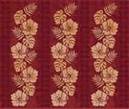 Retro- hawaiisches Muster stock abbildung