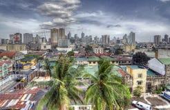 Retro HDR Manila horisont Royaltyfri Foto