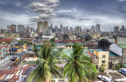 Retro HDR Manila Skyline Royalty Free Stock Photo