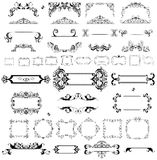 Retro heading and frames. Vintage retro floral heading and frames Royalty Free Stock Photography