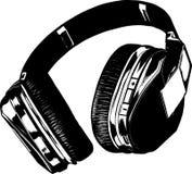 Retro Headphone  Stock Image