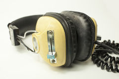 Retro headphones Stock Images