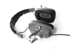 Retro headphones Stock Photo