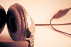 Retro headphones backgrounds Royalty Free Stock Image
