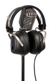 Retro Headphones and Mic Royalty Free Stock Photos