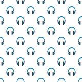 Retro headphones pattern seamless vector stock images