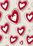 Retro heart background Stock Image