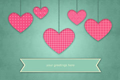 Retro Heart Illustration for Valentines Day, Wedding, and Mothers day Royalty Free Stock Photography