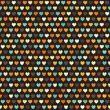 Retro heart pattern. Seamless vector Stock Images