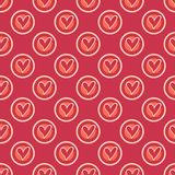 Retro heart seamless pattern Stock Photos