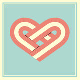 Retro heart symbol vector illustration Stock Photography