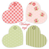 Retro heart tags Royalty Free Stock Images