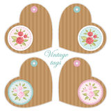 Retro heart tags 7 Royalty Free Stock Photo