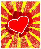Retro heart to the Valentines day Stock Photography