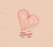 Retro heart for Valentines Day Background Stock Photography